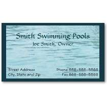 Swimming Pool Business Card by BusinessCardsCards
