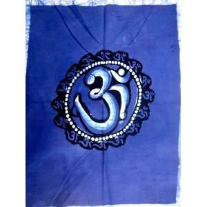 Holy Om / Shiva Symbol Aum Sign / Indian Religious Batik