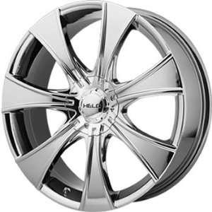 Helo HE874 17x7.5 Chrome Wheel / Rim 5x100 & 5x110 with a 42mm Offset