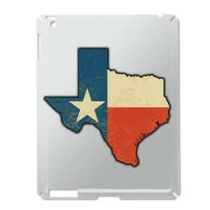iPad 2 Case Silver of Texas Flag Texas Shaped