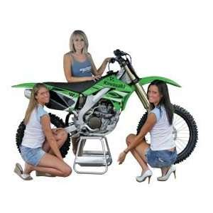 Polished Aluminum MX Motocross Dirt Bike Lift & Stand with