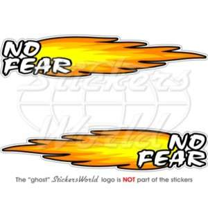 NO FEAR FIRE Flame 8 (200mm) Vinyl Stickers, Decals x2