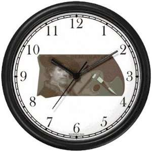 Rembrandt Self Portrait with Artists Palette in Background Wall Clock