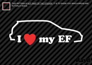 Love my EF Sticker Decal Die Cut Vinyl #2