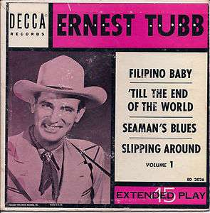 Rockabilly ERNEST TUBB Fillipino Baby + 3 DECCA EP
