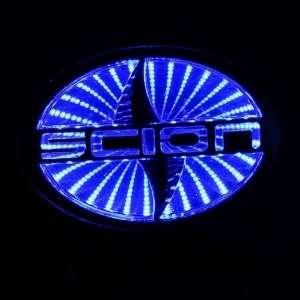 style Auto 3D Blue Led car logo badge light for Scion xD Automotive