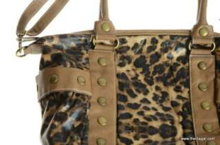 XOXO $69 TIK TAK LEOPARD Print HANDBAG PURSE Shoulder Hobo Bag