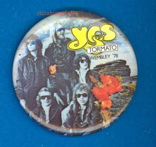 YES 1978 Wembley London pinback button badge y