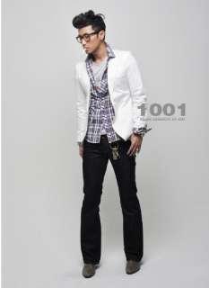 Mens Slim Sexy Blazer Short Coat Jacket White US XS M