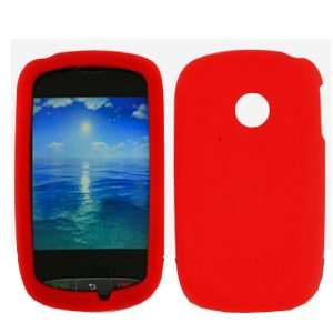 iFase Brand LG 800G Cell Phone Solid Red Silicon Skin Case