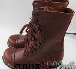 Collectable WWII US Airborne Paratrooper Leather Boots Jump Shoes