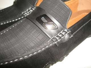 NEW MEN BLACK CASUAL BUCKLE DRIVING SHOES MOCS GS11