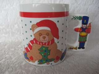 Christmas Teddy Bear Nutcracker Coffee Cocoa Cup Mug