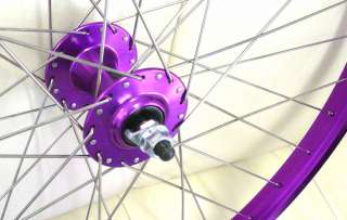 Free Wheels Single Spd BMX Bike Bicycle Purple Front Rear Wheel