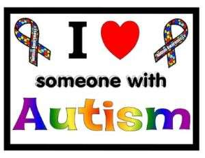 AUTISM AWARENESS MAGNET I love someone with Autism