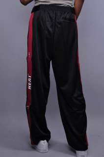 NEW MENS ZIPWAY NBA MIAMI HEAT BLACK RED ATHLETIC WARM UP PANTS SIZE