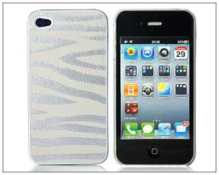 Zebra Striped Pattern Hard Back Cover Case For iPhone 4