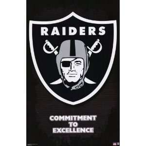 Oakland Raiders (Logo   Commitment to Excellence) Sports