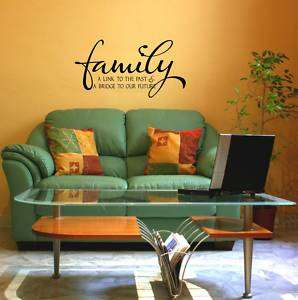 Family Vinyl Wall Quote Lettering Word Decal 11x21 #2