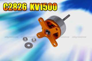 EMP C2826 KV1500 Outrunner brushless motor for Airplane model orange