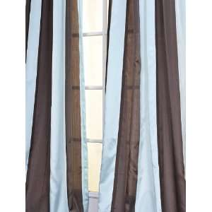 Yacht Club Coffee/Blue Sheer Curtains & Panels: Home & Kitchen