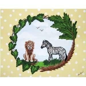 Sherri Blum Jungle Safari Animals Nursery Wall Art   2