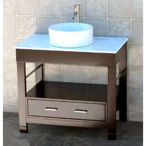 Vanity Cabinet white Marble Top Sink Faucet CG/7044 Everything Else