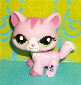 Littlest Pet Shop~#1788 PRETTY IN PINK KITTY CAT Green Eyes~LPS T124