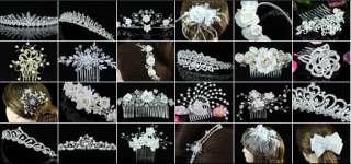 Wedding Bridal Heart Crystal Tiara T1301