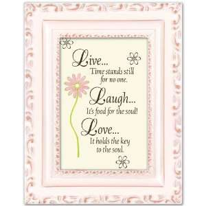 Live Laugh Love Pictures on Live Laugh Love Cottage Garden Distressed Black Tiny Frame