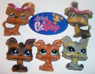 LPS SHIH TZU/YORKIE PUPPY DOG LOT~#6 398 509 883 1407~Littlest Pet