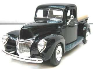Motor Max 1940 Ford Pickup Truck Black 1/24