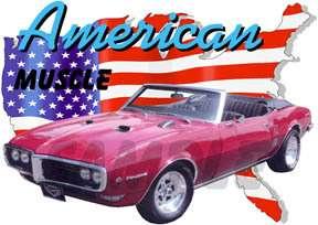 1968 Red Pontiac FireBird Convertible Hot Rod USA T Shirt 68, Muscle