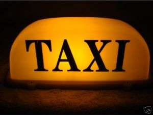 Roof Top Taxi Cab Sign 12V Light yellow Magnetic new