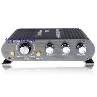 Micro Hi Fi Stereo Audio Amplifier 12W 2CH FM Input MP3