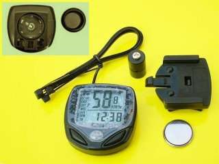 Bike Wireless LCD Cycle Computer Odometer Speedometer