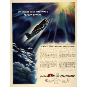 1942 Ad Nash Kelvinator World War II Fighter Plane WWII Kurka Engines