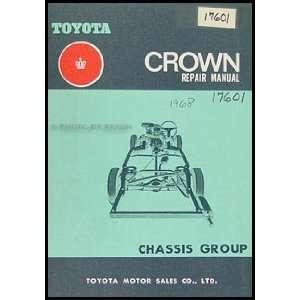 Crown Chassis Repair Shop Manual Original No. 98000 Toyota Books