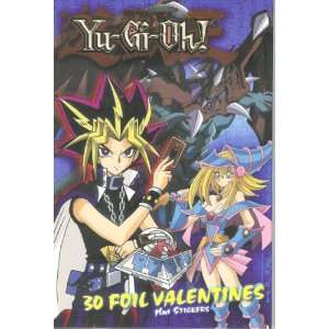 Yu Gi Oh Foil Valentine Cards Plus Stickers Toys & Games