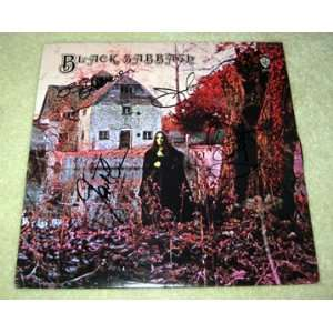 BLACK SABBATH autographed RARE Record