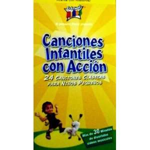 Canciones Infantiles Con Accion [VHS] Cedarmont Kids Movies & TV