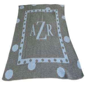 Large Polka Dot Blanket Personaliized with Initial or Name