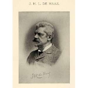 1899 Print Johannes Hubertus de Haas Self Portrait Portraiture