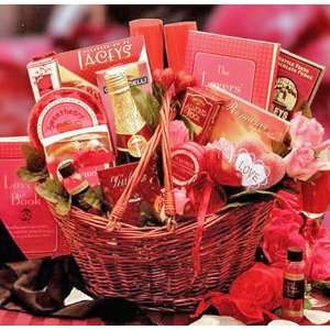 Heart Romantic Valentines Day Gift Basket for Lovers