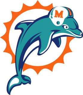 MIAMI DOLPHINS   NFL Logo wall,window,sticker,decal