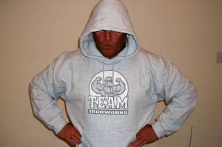 Light Grey Bodybuilding Clothing Hoodie Workout Top M |