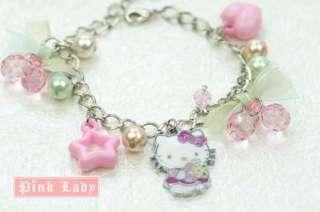 KJ21 Cute Hello Kitty Charm Pendant Bracelet