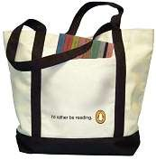 Product Image. Title: Id Rather Be Reading Tote Bag