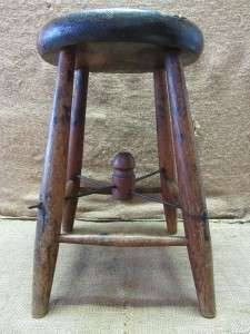 Vintage Wooden Stool  Antique Old Stools Chair Plant Stand Wood Table