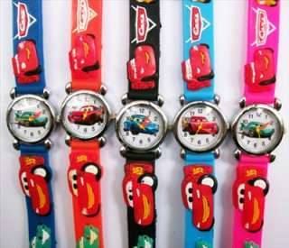 New 5pcs Disney Pixar Cars 3D Children Watch Child Gift